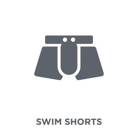 Badeshorts-Symbol. Badeshorts-Designkonzept aus der Badeshorts-Kollektion. Einfache Elementvektorillustration auf weißem Hintergrund. Vektorgrafik