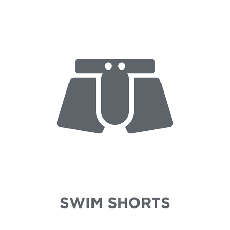 swim shorts icon. swim shorts design concept from Swim shorts collection. Simple element vector illustration on white background. Ilustrace