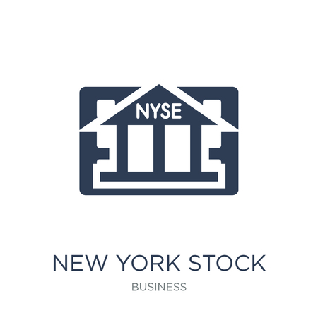New York Stock Exchange icon. Trendy flat vector New York Stock Exchange icon on white background from Business collection, vector illustration can be use for web and mobile, eps10