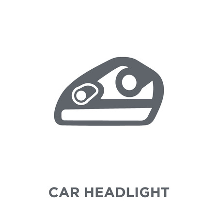 car headlight icon. car headlight design concept from Car parts collection. Simple element vector illustration on white background.