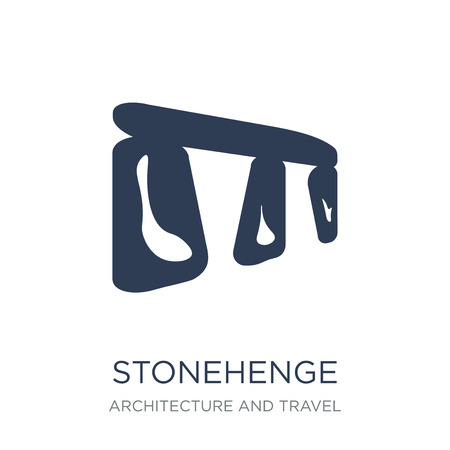 Stonehenge icon. Trendy flat vector Stonehenge icon on white background from Architecture and Travel collection, vector illustration can be use for web and mobile, eps10