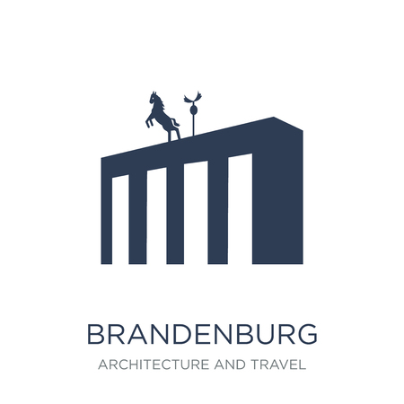Brandenburg icon. Trendy flat vector Brandenburg icon on white background from Architecture and Travel collection, vector illustration can be use for web and mobile, eps10 Illustration