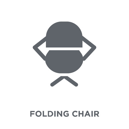 Folding Chair icon. Folding Chair design concept from Camping collection. Simple element vector illustration on white background.  イラスト・ベクター素材