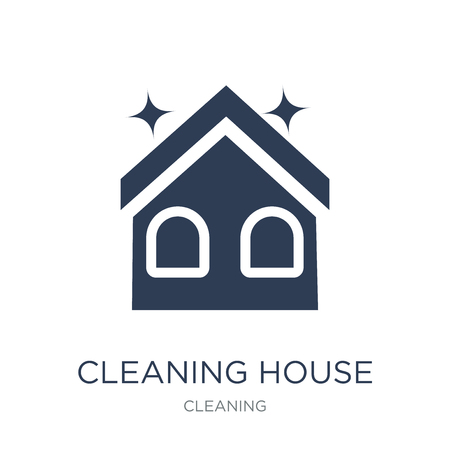 Cleaning House icon. Trendy flat vector Cleaning House icon on white background from Cleaning collection, vector illustration can be use for web and mobile, eps10 Foto de archivo - 111975731