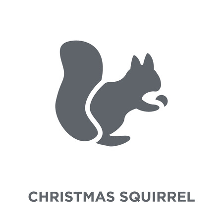 christmas Squirrel icon. christmas Squirrel design concept from Christmas collection. Simple element vector illustration on white background.