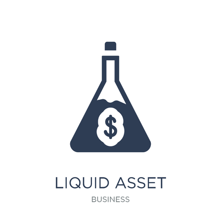 Liquid asset icon. Trendy flat vector Liquid asset icon on white background from Business collection, vector illustration can be use for web and mobile, eps10