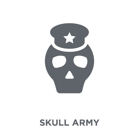 Skull Army icon. Skull Army design concept from Army collection. Simple element vector illustration on white background.