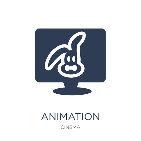 animation icon. Trendy flat vector animation icon on white background from Cinema collection, vector illustration can be use for web and mobile, eps10