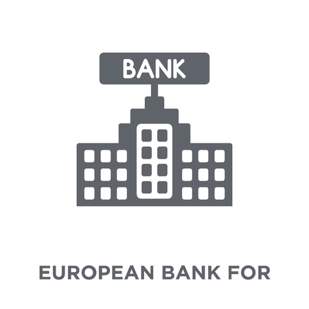 European Bank for Reconstruction and Development icon. European Bank for Reconstruction and Development design concept from European Bank for Reconstruction and Development collection. Simple element vector illustration on white background.