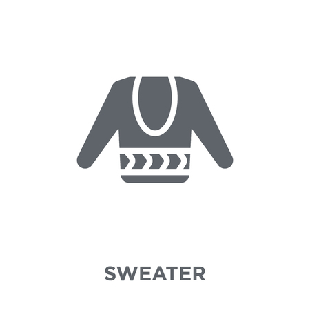 Sweater icon. Sweater design concept from  collection. Simple element vector illustration on white background.