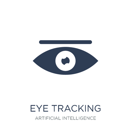 Eye tracking icon. Trendy flat vector Eye tracking icon on white background from Artificial Intelligence, Future Technology collection, vector illustration can be use for web and mobile, eps10