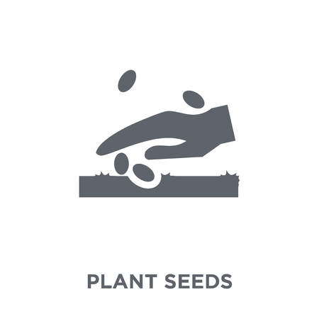 plant Seeds icon. plant Seeds design concept from Agriculture, Farming and Gardening collection. Simple element vector illustration on white background. Stock Illustratie