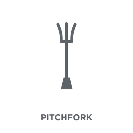 Pitchfork icon. Pitchfork design concept from Agriculture, Farming and Gardening collection. Simple element vector illustration on white background.