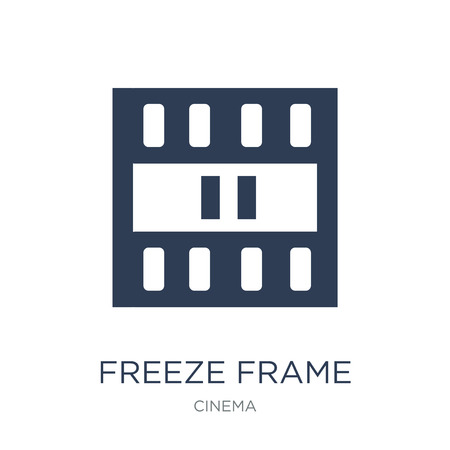 freeze frame icon. Trendy flat vector freeze frame icon on white background from Cinema collection, vector illustration can be use for web and mobile, eps10