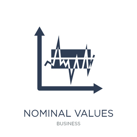 Nominal values icon. Trendy flat vector Nominal values icon on white background from Business collection, vector illustration can be use for web and mobile, eps10