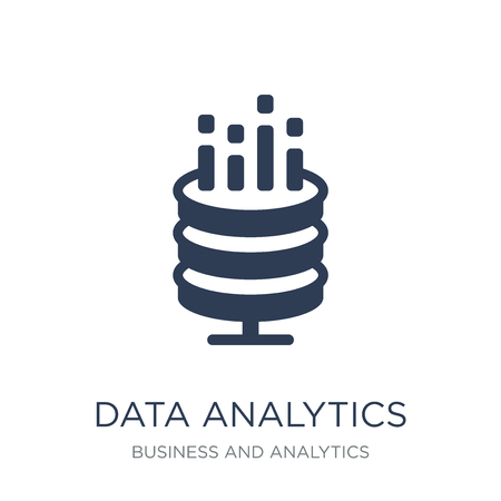 Data analytics icon. Trendy flat vector Data analytics icon on white background from Business and analytics collection, vector illustration can be use for web and mobile, eps10 Illustration