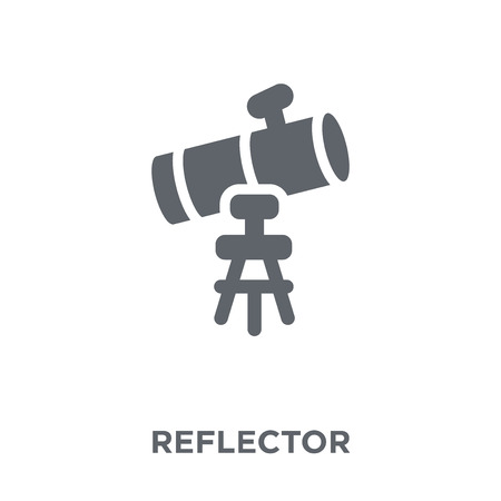 Reflector icon. Reflector design concept from Astronomy collection. Simple element vector illustration on white background. Çizim