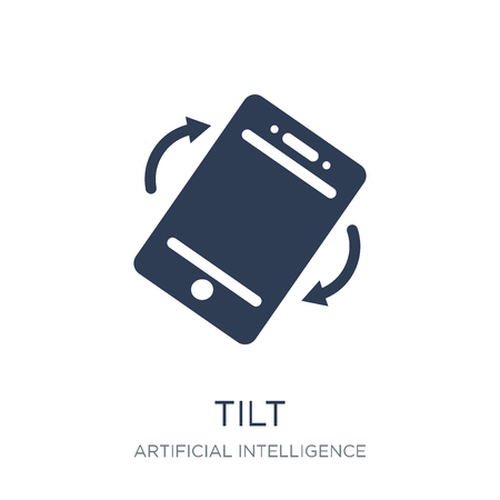 Tilt icon. Trendy flat vector Tilt icon on white background from Artificial Intelligence, Future Technology collection, vector illustration can be use for web and mobile, eps10