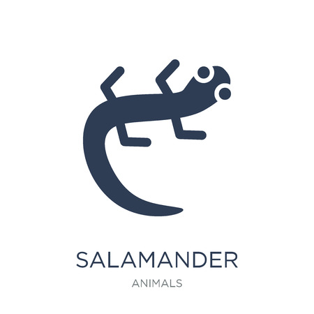 salamander icon. Trendy flat vector salamander icon on white background from animals collection, vector illustration can be use for web and mobile, eps10 Standard-Bild - 111975773