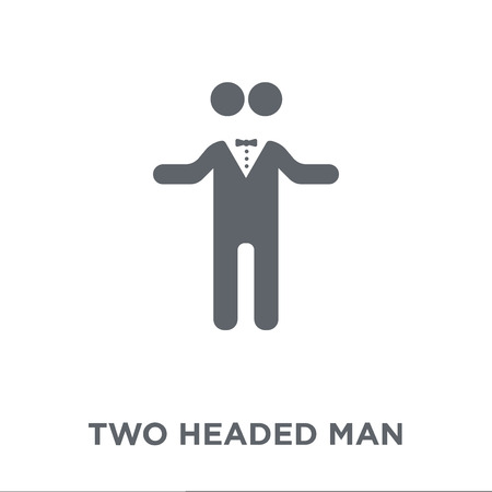 Two headed man icon. Two headed man design concept from Circus collection. Simple element vector illustration on white background.
