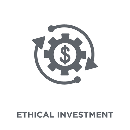 Ethical investment icon. Ethical investment design concept from Ethical investment collection. Simple element vector illustration on white background.