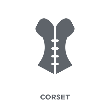 Corset icon. Corset design concept from Clothes collection. Simple element vector illustration on white background. Illustration