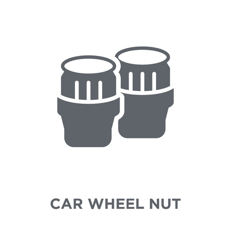 car wheel nut icon. car wheel nut design concept from Car parts collection. Simple element vector illustration on white background.