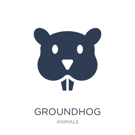 Groundhog icon. Trendy flat vector Groundhog icon on white background from animals collection, vector illustration can be use for web and mobile, eps10 Foto de archivo - 111975781