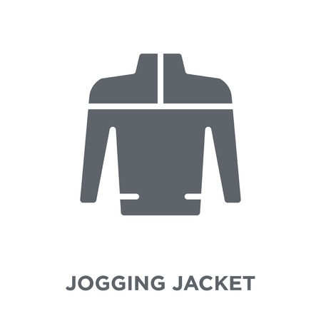 jogging jacket icon. jogging jacket design concept from Jogging jacket collection. Simple element vector illustration on white background.