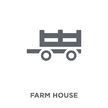 Farm house icon. Farm house design concept from Agriculture, Farming and Gardening collection. Simple element vector illustration on white background. Stock fotó - 111975786