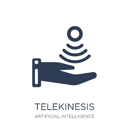 Telekinesis icon. Trendy flat vector Telekinesis icon on white background from Artificial Intelligence, Future Technology collection, vector illustration can be use for web and mobile, eps10
