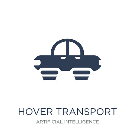 Hover transport icon. Trendy flat vector Hover transport icon on white background from Artificial Intelligence, Future Technology collection, vector illustration can be use for web and mobile, eps10