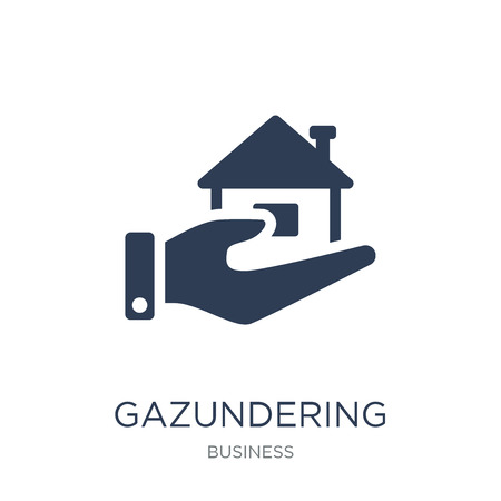 Gazundering icon. Trendy flat vector Gazundering icon on white background from Business collection, vector illustration can be use for web and mobile, eps10 Ilustração