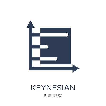 Keynesian economics icon. Trendy flat vector Keynesian economics icon on white background from Business collection, vector illustration can be use for web and mobile, eps10