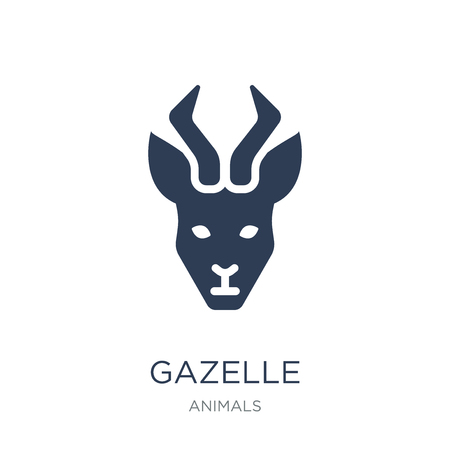 Gazelle icon. Trendy flat vector Gazelle icon on white background from animals collection, vector illustration can be use for web and mobile, eps10