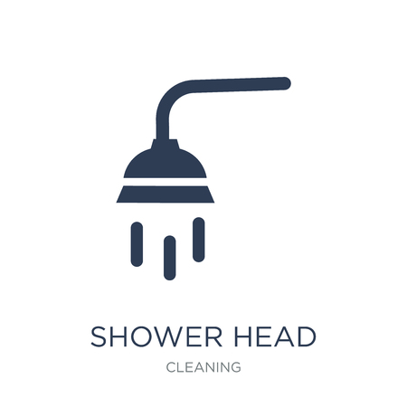 Shower head icon. Trendy flat vector Shower head icon on white background from Cleaning collection, vector illustration can be use for web and mobile, eps10 Illustration