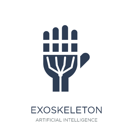 Exoskeleton icon. Trendy flat vector Exoskeleton icon on white background from Artificial Intelligence, Future Technology collection, vector illustration can be use for web and mobile, eps10 Ilustracja