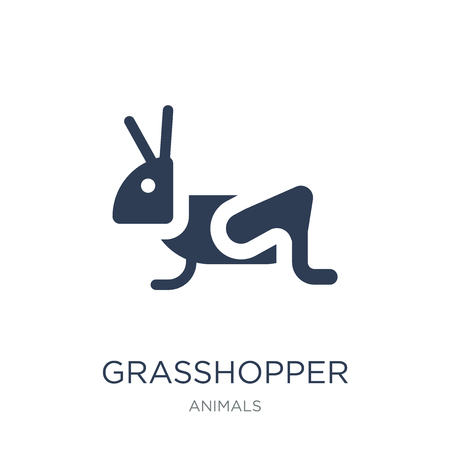 Grasshopper icon. Trendy flat vector Grasshopper icon on white background from animals collection, vector illustration can be use for web and mobile, eps10