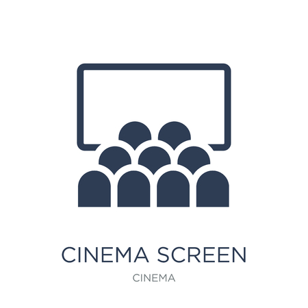 cinema screen icon. Trendy flat vector cinema screen icon on white background from Cinema collection, vector illustration can be use for web and mobile, eps10