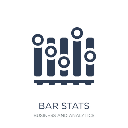 Bar Stats icon. Trendy flat vector Bar Stats icon on white background from Business and analytics collection, vector illustration can be use for web and mobile, eps10 Illustration