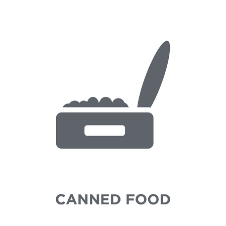 Canned food icon. Canned food design concept from Camping collection. Simple element vector illustration on white background. Foto de archivo - 111975811