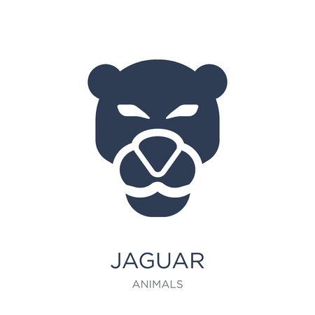 Jaguar icon. Trendy flat vector Jaguar icon on white background from animals collection, vector illustration can be use for web and mobile, eps10 일러스트