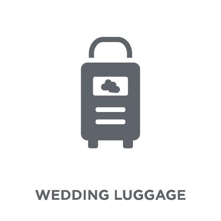 icône de bagages de mariage. Concept de design de bagages de mariage de la collection Mariage et amour. Illustration vectorielle élément simple sur fond blanc.