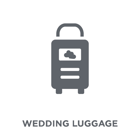 wedding Luggage icon. wedding Luggage design concept from Wedding and love collection. Simple element vector illustration on white background.