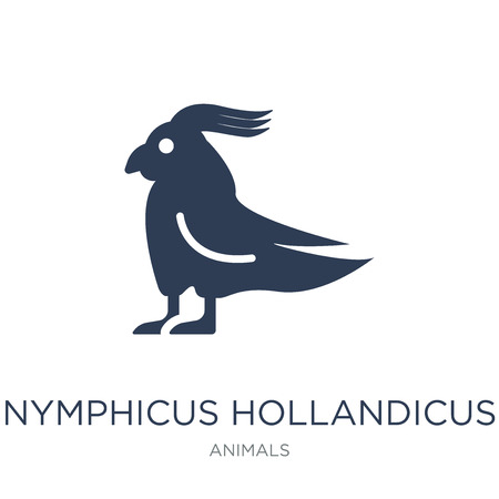 Nymphicus hollandicus icon. Trendy flat vector Nymphicus hollandicus icon on white background from animals collection, vector illustration can be use for web and mobile, eps10