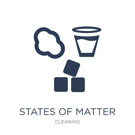 States of Matter icon. Trendy flat vector States of Matter icon on white background from Cleaning collection, vector illustration can be use for web and mobile, eps10