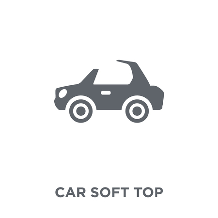 car soft top icon. car soft top design concept from Car parts collection. Simple element vector illustration on white background. 写真素材 - 111913515