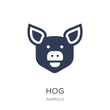 Hog icon. Trendy flat vector Hog icon on white background from animals collection, vector illustration can be use for web and mobile, eps10 Illustration