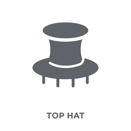 Top hat icon. Top hat design concept from  collection. Simple element vector illustration on white background.