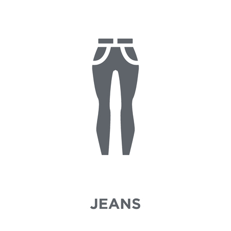 Jeans icon. Jeans design concept from  collection. Simple element vector illustration on white background.